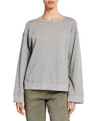 Pam & Gela - Open-back Long Sleeve Sweatshirt - Lyst