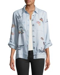 Philosophy | Embroidered Button-front Blouse | Lyst