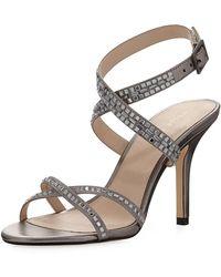 Pelle Moda - Katya Crystal-embellished Satin Sandal - Lyst