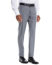 Incotex Men's Moss Five-pocket Flannel Dress Pants - Gray