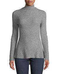 Metric Knits - Asymmetric-hem Seamed Turtleneck Sweater - Lyst