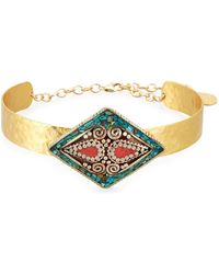 Devon Leigh - Turquoise & Coral Collar Necklace - Lyst