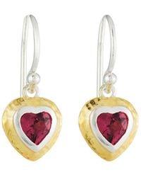 Gurhan | Romance Rhodolite Garnet Heart Earrings | Lyst
