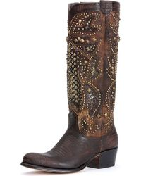 Frye - Deborah Deco Tall Boot - Lyst