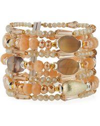 Nakamol - Multi-strand & Mixed Crystal Beaded Bracelet - Lyst
