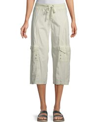 XCVI - Sunday Cropped Cargo Pants - Lyst