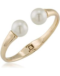 Trina Turk - Hinged Cuff Bracelet W/ Pearly End Caps - Lyst