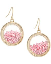 Lydell NYC - Fuchsia Round Shaker Earrings - Lyst