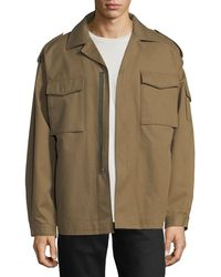 Valentino - Zip-front Utility Jacket - Lyst