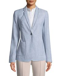 T Tahari - Striped Blazer Jacket - Lyst