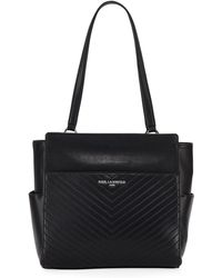 Karl Lagerfeld - Charlotte Quilted Leather Tote Bag - Lyst