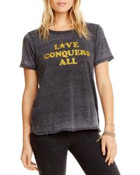Chaser - Love Conquers All Graphic Tee - Lyst