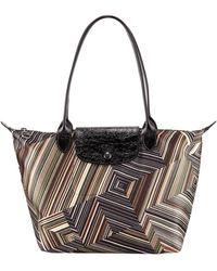 2e9d282b8b79 Longchamp - Op Art Mixed-print Shoulder Tote Bag - Lyst