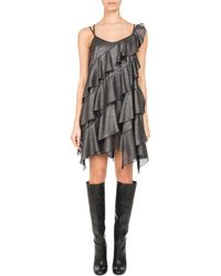 Pascal Millet - Metallic Ruffle-trim Strappy Minidress - Lyst