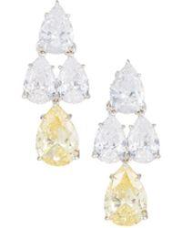 Fantasia by Deserio - Pear-cut Cz Waterfall Chandelier Earrings - Lyst