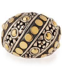 John Hardy - Jaisalmer Dot Twisted Oval Ring - Lyst