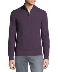 Michael Kors - Men's Mock-neck Elbow-patch Sweater - Lyst