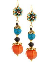 Jose & Maria Barrera - Crystal Linear Drop Earrings - Lyst