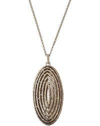 Bavna - Diamond Pave Oval Pendant Necklace 30l - Lyst