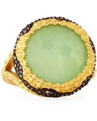 Armenta | Old World Chrysoprase & Quartz Doublet Ring W/ Diamonds | Lyst