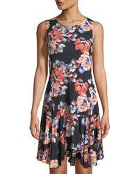 Cece by Cynthia Steffe - Floral Handkerchief Dress - Lyst