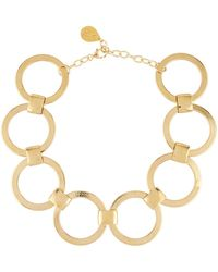 Devon Leigh - Large Link-chain Statement Choker Necklace - Lyst