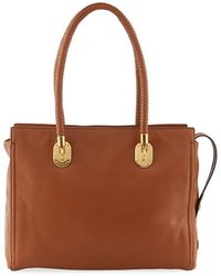 f8df15390e77 Cole Haan - Benson Braided-handle Leather Tote Bag - Lyst