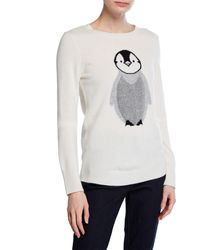 Neiman Marcus - Cashmere Penguin-print Sweater - Lyst