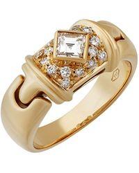 BVLGARI - 18k Pave Diamond Ring - Lyst