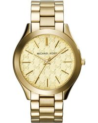 MICHAEL Michael Kors - 42mm Runway Monogram Bracelet Watch - Lyst