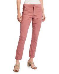 XCVI Tennessee Lightweight Crop Pants - Red