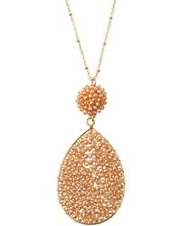 Panacea - Crystal Teardrop Pendant Necklace - Lyst