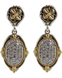 Konstantino - Asteri Pave White Diamond Double-drop Earrings - Lyst