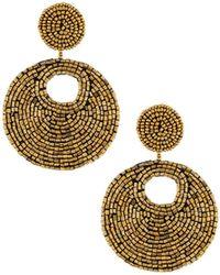 Kenneth Jay Lane | Topaz Seed Bead Drop Earrings | Lyst
