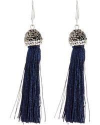 Lydell NYC - Single Tassel Drop Earrings - Lyst