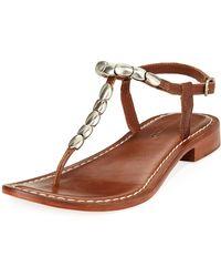 Bernardo - Tristan Studded Flat Sandals - Lyst