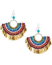 Nakamol - Bead Layered Half-circle Earrings - Lyst
