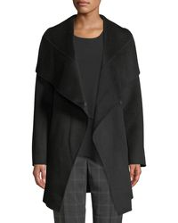 T Tahari - Nicky Double-face Wool-blend Two-tone Jacket - Lyst