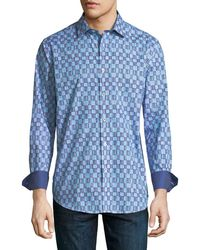 Bugatchi - Classic-fit Checkered Sport Shirt - Lyst