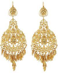 Jose & Maria Barrera - Filigree Feather Dangle Earrings - Lyst