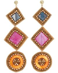 Panacea - Geometric Agate Drop Earrings - Lyst