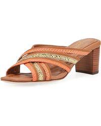 Eric Javits - Crossover Metallic Braided Sandal - Lyst