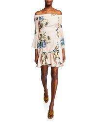 5b47e60e494c10 Astr - Ophelia Off-the-shoulder Floral Print Dress - Lyst
