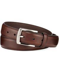 Neiman Marcus - Men's Feather-edge Stitch Leather Belt - Lyst