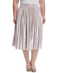 RACHEL Rachel Roy - Pleated Metallic A-line Skirt - Lyst