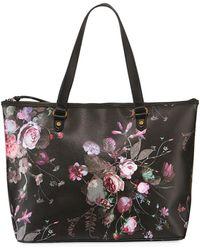 Elliott Lucca Aria Large Floral-print Tote Bag - Black