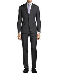 Neiman Marcus - Slim-fit Two-piece Wool Suit Black - Lyst