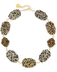 Devon Leigh - Animal-print Choker Necklace - Lyst
