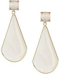 Panacea Stone Teardrop Earrings White