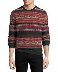 Ralph Lauren - Cashmere-blend Southwestern-knit Striped Sweater - Lyst